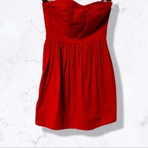 Y2K Short red sweetheart bubble dress
